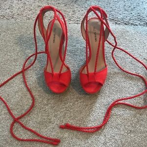1ba7589c45d Call It Spring Shoes - Hot Red Lace up Wedges